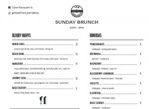 Sunday Brunch Page 1