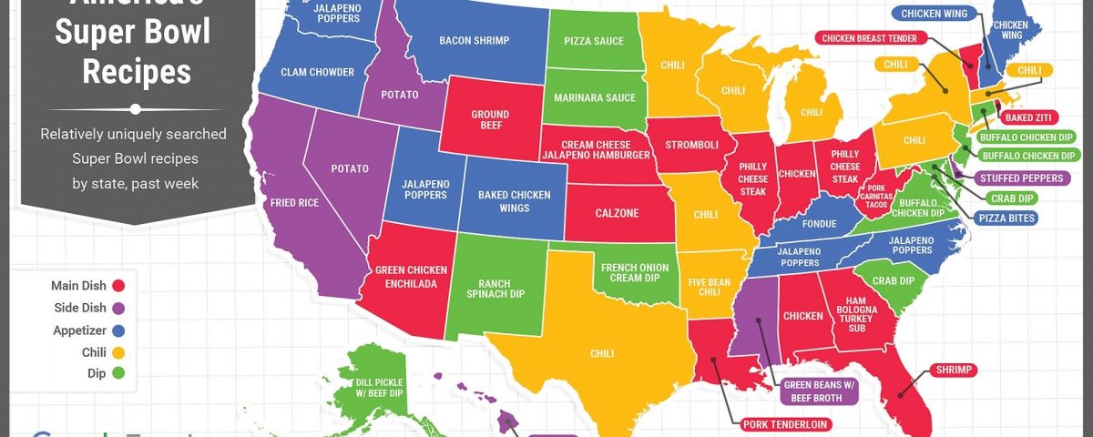 Super Bowl 2020 Food Map